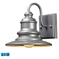 Marina LED 8 inch Matte Silver Outdoor Wall Sconce