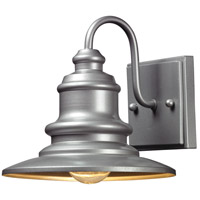 Marina 1 Light 8 inch Matte Silver Outdoor Wall Sconce in Standard