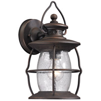 Village Lantern 1 Light 13 inch Weathered Charcoal Outdoor Wall Sconce