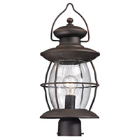 ELK Lighting Village Lantern 1 Light Post Mount in Weathered Charcoal 47041/1