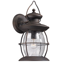 Village Lantern 1 Light 17 inch Weathered Charcoal Outdoor Wall Sconce