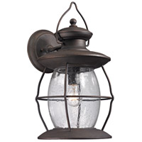 ELK Lighting Village Lantern 1 Light Outdoor Wall Sconce in Weathered Charcoal 47044/1