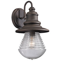 ELK 47045/1 Westport 1 Light 15 inch Weathered Charcoal Outdoor Wall Sconce