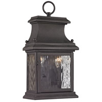 Forged Provincial 2 Light 14 inch Charcoal Outdoor Wall Sconce