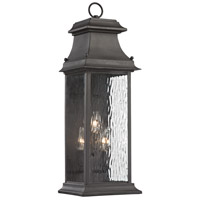 ELK 47051/3 Forged Provincial 3 Light 23 inch Charcoal Outdoor Wall Sconce