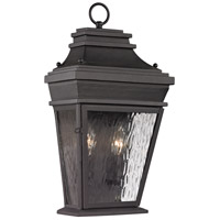 ELK Lighting Forged Provincial 2 Light Outdoor Wall Sconce in Charcoal 47052/2