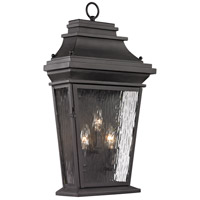 ELK 47053/3 Forged Provincial 3 Light 22 inch Charcoal Outdoor Sconce