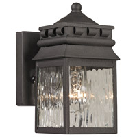 ELK 47060/1 Forged Lancaster 1 Light 8 inch Charcoal Outdoor Wall Sconce