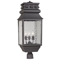 ELK Lighting Forged Lancaster 3 Light Post Mount in Charcoal 47062/3