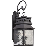 Forged Lancaster 2 Light 26 inch Charcoal Outdoor Wall Sconce