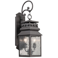 Forged Lancaster 2 Light 22 inch Charcoal Outdoor Wall Sconce