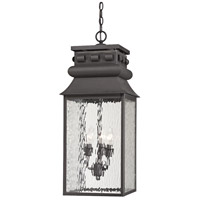 ELK 47066/3 Forged Lancaster 3 Light 11 inch Charcoal Outdoor Hanging Lantern