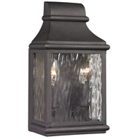 Forged Jefferson 2 Light 11 inch Charcoal Outdoor Wall Sconce