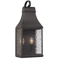 ELK 47071/2 Forged Jefferson 2 Light 19 inch Charcoal Outdoor Wall Sconce, wiring will come out from bottom to HCWO 13