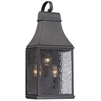 Forged Jefferson 3 Light 22 inch Charcoal Outdoor Wall Sconce