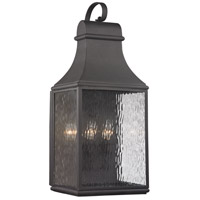 Forged Jefferson 3 Light 27 inch Charcoal Outdoor Wall Sconce