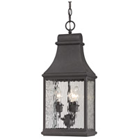 Forged Jefferson 3 Light 9 inch Charcoal Outdoor Pendant