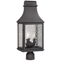 ELK 47075/3 Forged Jefferson 3 Light 23 inch Charcoal Outdoor Post Mount
