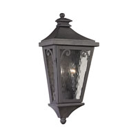 Forged Camden 2 Light 21 inch Charcoal Outdoor Wall Sconce