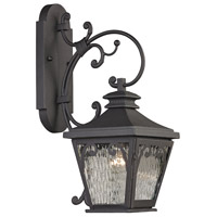 ELK 47081/1 Forged Camden 1 Light 21 inch Charcoal Outdoor Wall Sconce