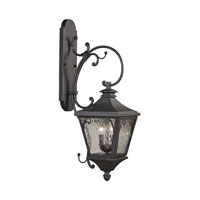 Forged Camden 2 Light 32 inch Charcoal Outdoor Wall Sconce
