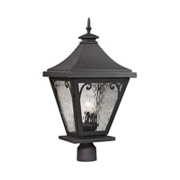 ELK Lighting Forged Camden 3 Light Post Mount in Charcoal 47084/3