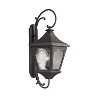 Forged Manor 3 Light 34 inch Charcoal Outdoor Wall Sconce