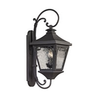 Forged Manor 2 Light 26 inch Charcoal Outdoor Wall Sconce