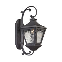 Forged Manor 1 Light 20 inch Charcoal Outdoor Wall Sconce