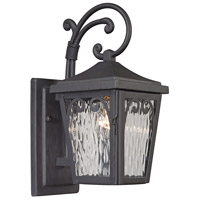 ELK 47093/1 Forged Manor 1 Light 14 inch Charcoal Outdoor Wall Sconce