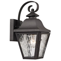 Forged Brookridge 1 Light 12 inch Charcoal Outdoor Wall Sconce