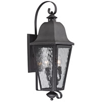 ELK 47102/3 Forged Brookridge 3 Light 30 inch Charcoal Outdoor Sconce