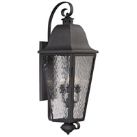 Forged Brookridge 4 Light 37 inch Charcoal Outdoor Wall Sconce