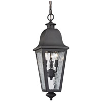 ELK 47104/3 Forged Brookridge 3 Light 8 inch Charcoal Outdoor Pendant