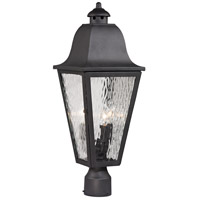 Forged Brookridge 3 Light 23 inch Charcoal Post Mount