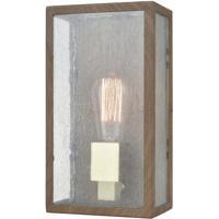 ELK 47130/1 McKenzie 1 Light 11 inch Dark Wood Print with Brushed Brass Outdoor Sconce