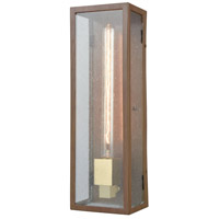 Brushed Brass Glass Outdoor Wall Lights