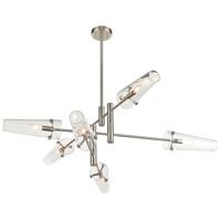 ELK 47228/6 Valante 39 inch Satin Nickel Chandelier Ceiling Light