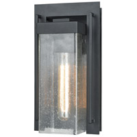 ELK 47500/1 Overton 1 Light 12 inch Matte Black Outdoor Wall Sconce