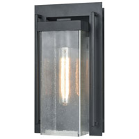 ELK 47501/1 Overton 1 Light 14 inch Matte Black Outdoor Sconce