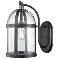 ELK 47511/1 Hunley 1 Light 18 inch Oil Rubbed Bronze Outdoor Sconce