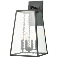 Mediterrano 4 Light 22 inch Charcoal Outdoor Wall Sconce