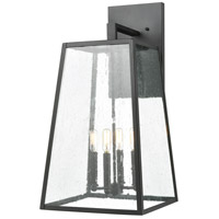 Mediterrano 4 Light 27 inch Charcoal Outdoor Wall Sconce