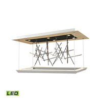ELK Lighting Mava LED Chandelier in Matte White & Matte Black 50002/LED