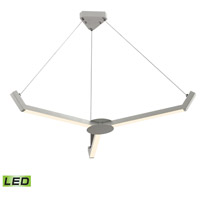 Zuno 43 inch Matte White Chandelier Ceiling Light