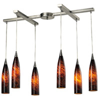 ELK Lighting Lungo 6 Light Pendant in Satin Nickel 501-6ES