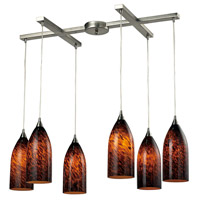 ELK Lighting Verona 6 Light Pendant in Satin Nickel 502-6ES