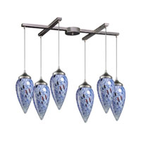 ELK Lighting Lacrima 6 Light Pendant in Satin Nickel 503-6BL