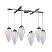 ELK Lighting Lacrima 6 Light Pendant in Satin Nickel 503-6SW