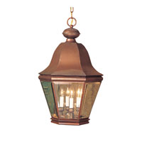 ELK Lighting Heritage 4 Light Outdoor Hanging Lantern in Aged Copper 5084-AC photo thumbnail